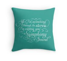 Symphony of Sound Throw Pillow