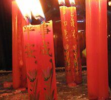 Candles at the Jade Pagoda Palace, HCMC by justineb