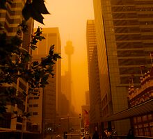 Sydney Dust Storm: Centrepoint Shroud by Milton Gan