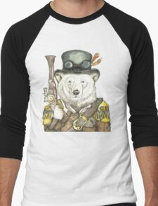 Polar Bear Warden Men's Baseball ¾ T-Shirt