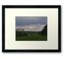 rain on the way Framed Print