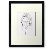 Rainbowless Girl Framed Print