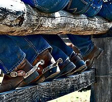 Bums, Boots and Spurs by sally williams