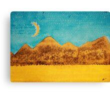 Mojave Moonrise original painting Canvas Print
