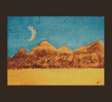 Mojave Moonrise original painting T-Shirt