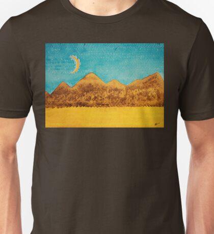 Mojave Moonrise original painting Unisex T-Shirt