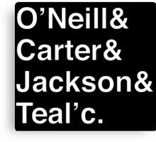 STARGATE SG1 Helvetica Names List Canvas Print