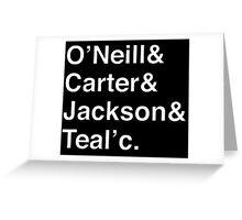 STARGATE SG1 Helvetica Names List Greeting Card