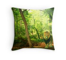 Triumphant King Throw Pillow