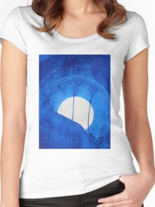 Bad Moon Rising original painting Women's Fitted Scoop T-Shirt