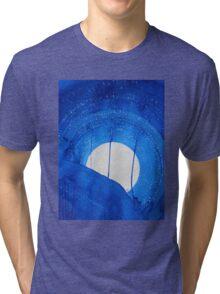 Bad Moon Rising original painting Tri-blend T-Shirt