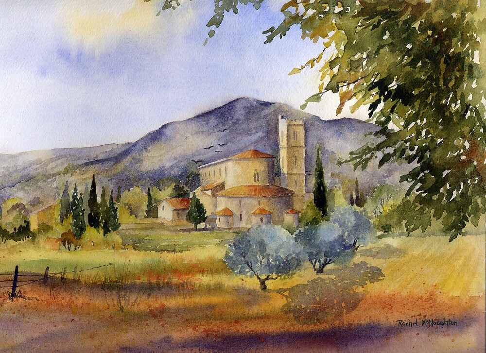 San Antimo Abbey Tuscany by artbyrachel