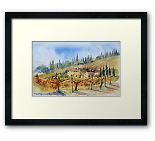 Autumn in the Vineyard Tuscany Framed Print