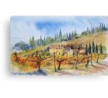 Autumn in the Vineyard Tuscany Canvas Print