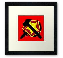 HAMMER  SICKLE AND RED STAR Framed Print