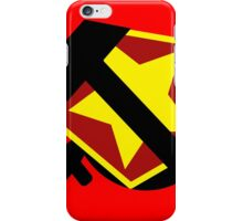 HAMMER  SICKLE AND RED STAR iPhone Case/Skin