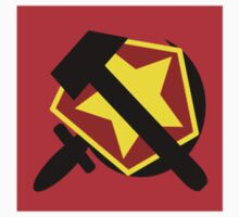 HAMMER  SICKLE AND RED STAR One Piece - Short Sleeve
