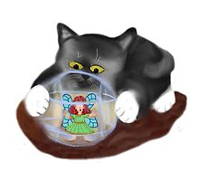 Kitty Rolls Fairy in a Hamster Ball by NineLivesStudio
