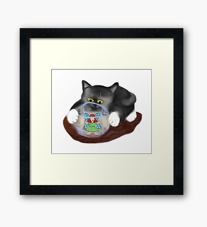 Kitty Rolls Fairy in a Hamster Ball Framed Print