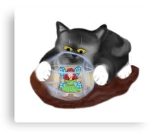 Kitty Rolls Fairy in a Hamster Ball Canvas Print