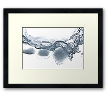 Ice cube party Framed Print