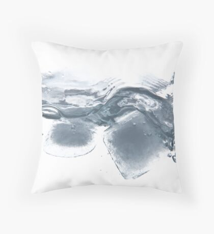 Ice cube party Throw Pillow
