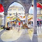 Venice, the Fish Market by artbyrachel