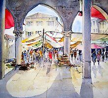 Venice, the Fish Market by artbyrachel