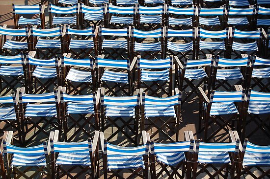 Deck chairs, Eastbourne by sarahtoure