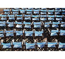 Deck chairs, Eastbourne Photographic Print