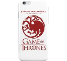 game of thrones - house Targaryen fire red iPhone Case/Skin