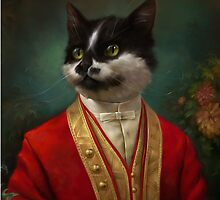 The Hermitage Court Waiter Cat by Ldarro