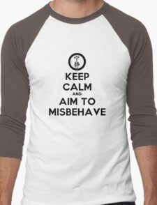 Keep Calm and Aim to Misbehave Men's Baseball ¾ T-Shirt