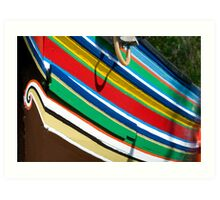 Colorful traditional fisherman boats Art Print