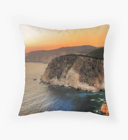 Greek sunset Throw Pillow