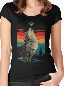wi-fi wolf Women's Fitted Scoop T-Shirt