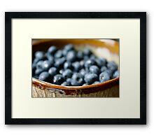 bokeh blueberries Framed Print