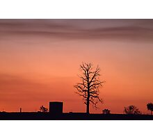 Black Rise Sunset  Photographic Print