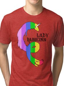 Lady Rainicorn Tri-blend T-Shirt