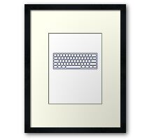 MY KEYBOARD Framed Print