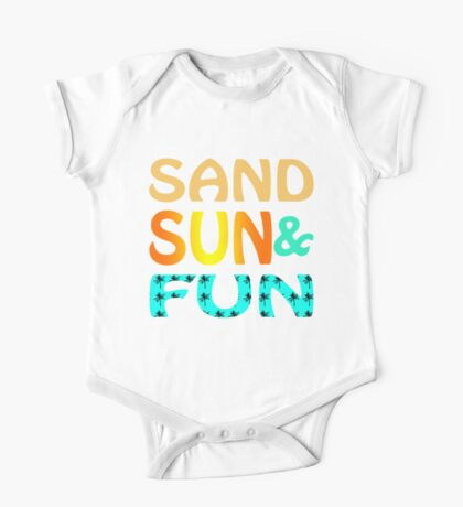 Sand Sun & Fun One Piece - Short Sleeve