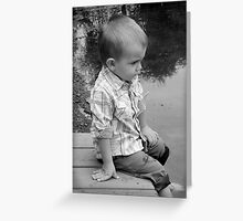 Pondering Greeting Card