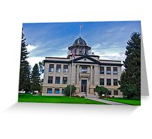 ROSEBUD COUNTY COURT HOUSE Greeting Card