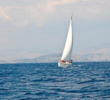 Sailing between Corfu and Albania by dunawori