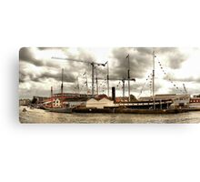 The Ketch 'Irene' alongside the 'SS Great Britain'. Bristol Docks. Canvas Print