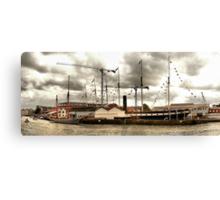The Ketch 'Irene' alongside the 'SS Great Britain'. Bristol Docks. Canvas Print