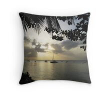 Grey Sky, Grey Sea Throw Pillow