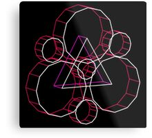 Coheed's Keywork in 3D - Neon Metal Print