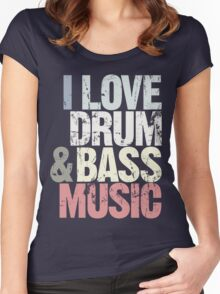I Love Drum & Bass Lover (Special Edition) Women's Fitted Scoop T-Shirt