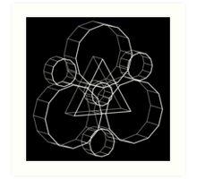 Coheed's Keywork in 3D - Basic Art Print